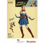 8185 Simplicity Pattern: Costumes DC Bombshells